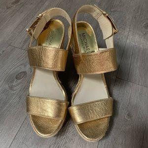 MICHAEL Michael Kors Gold Wedges Sandal